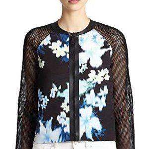 Elie Tahari Sandie Floral-Print Mesh Jacket